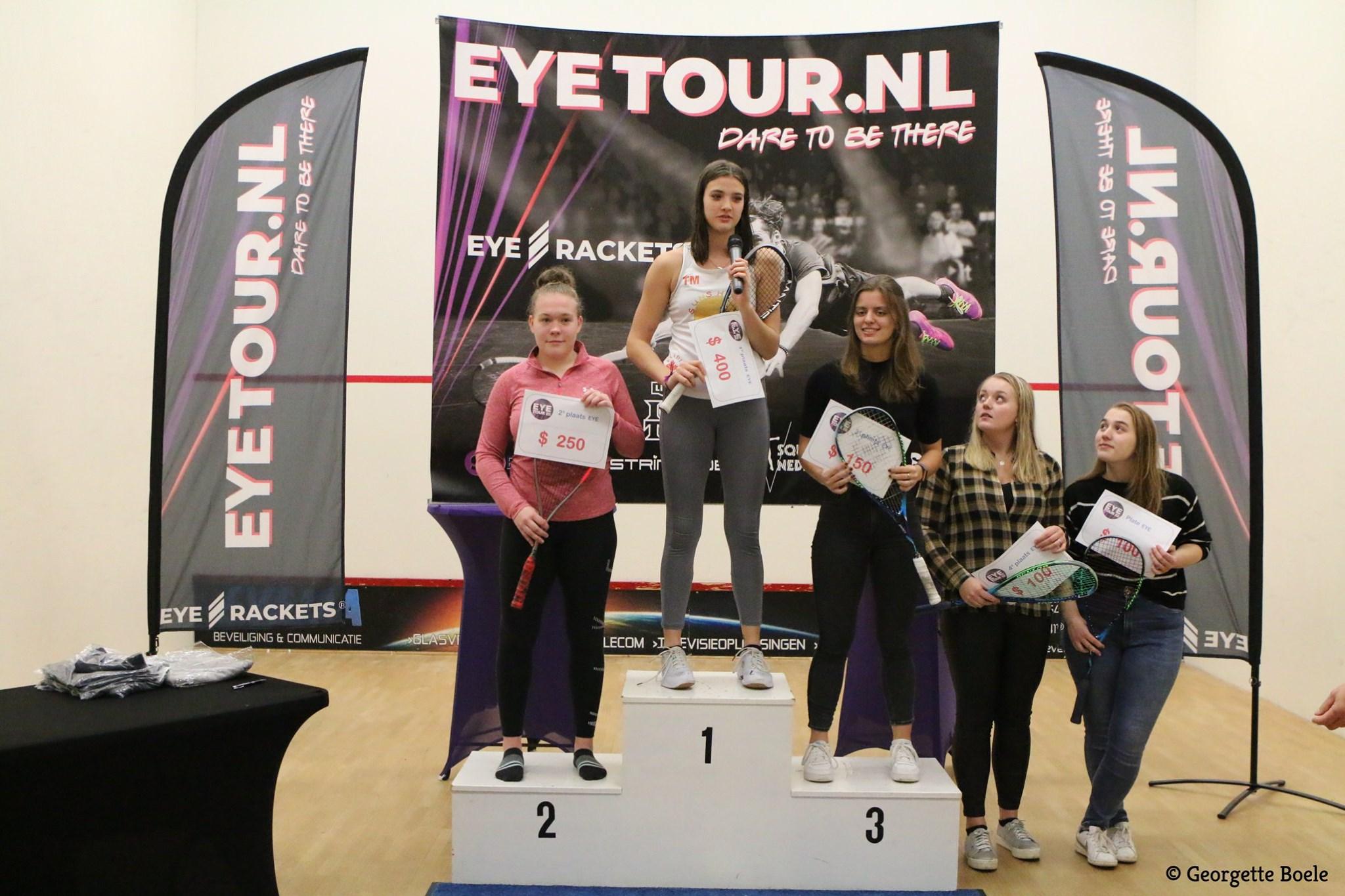 Torrie Malik wint PSA $1100 in Apeldoorn